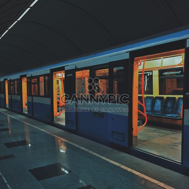 Train at subway station - Free image #363691