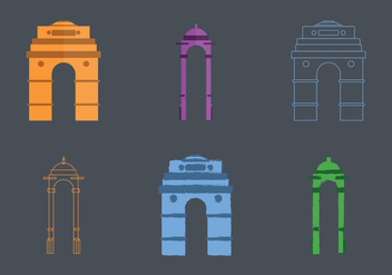 Free India Gate Vector Illustration - vector gratuit #363731