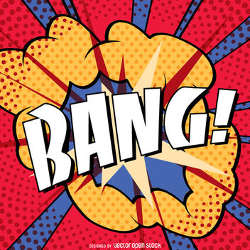 Colorful vintage BANG sign - Free vector #363761