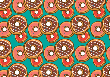 Free Doughnut Pattern Vector - Free vector #363931