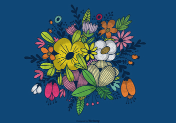 Hand Drawn Flower Bouquet Vector - Free vector #363981