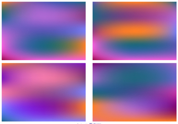 Colorful Blurred Backgrounds Set - Free vector #363991