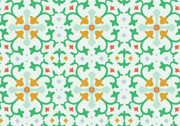 Floral Mosaic Vector Pattern - Kostenloses vector #364011