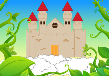 Castle Beanstalk Background Vector - Free vector #364031