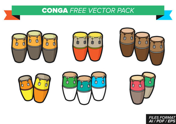 Conga Free Vector Pack - vector gratuit #364051