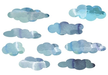 Vector Watercolor Cloud Elements - бесплатный vector #364281