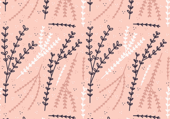 Vector Boho Plant Pattern - Free vector #364301