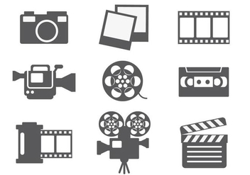 Video Editing Icon Vector - Free vector #364321
