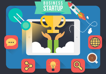 Entrepreneurship Infographic Startup Design Vector - бесплатный vector #364341