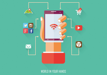 World in Your Hand Vector Infographic - vector #364371 gratis