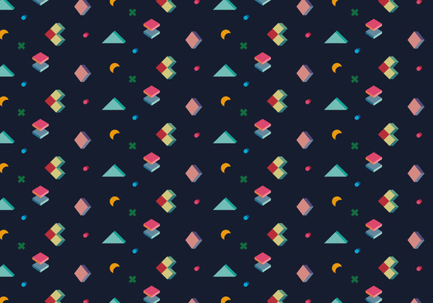 Perspective Cubic Pattern - Free vector #364381