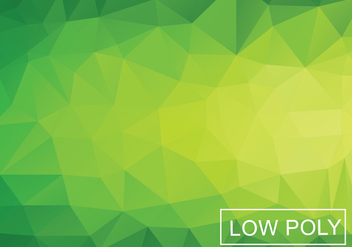 Green Geometric Low Poly Style Vector - Kostenloses vector #364391