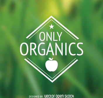 Only organics polygon food emblem - vector gratuit #364421