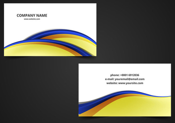 Free Vector Abstract Visiting Card - Kostenloses vector #364551