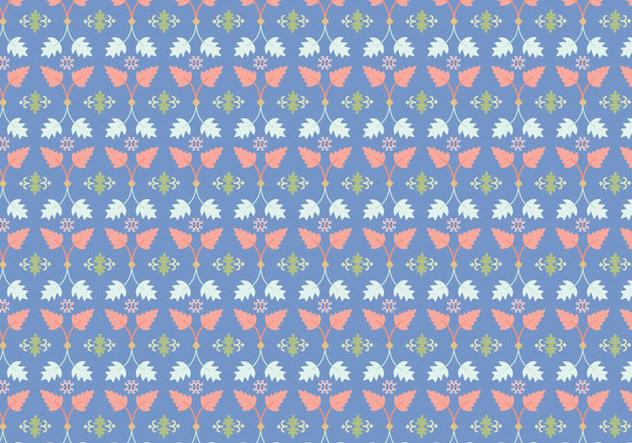 Leafs Floral Pattern - Kostenloses vector #364571