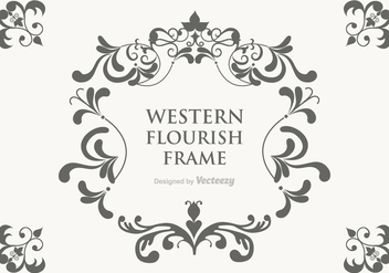 Free Vector Western Flourish Frame - Free vector #364611