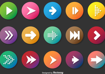 Rounded Play And Next Vector Buttons - Free vector #364691