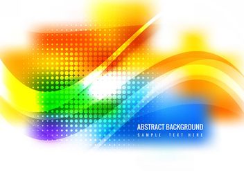 Free Colorful Waves Vector Background - бесплатный vector #364721