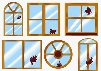 Vector Broken Windows - vector gratuit #364731