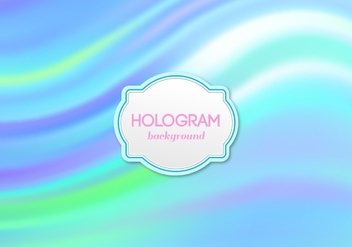 Free Vector Blue Hologram Background - бесплатный vector #364801