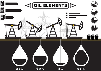 Oil Field Infographics - vector gratuit #364811