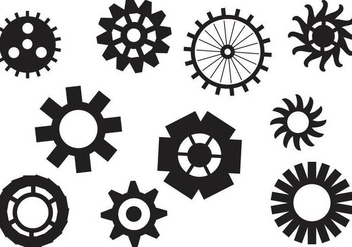 Free Clock Pieces Vectors - vector gratuit #364841