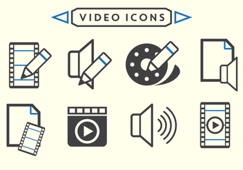 Video Editing Vectors - vector gratuit #364851