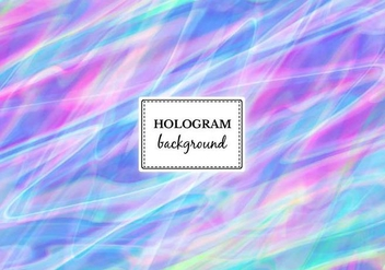 Free Vector Streaked Hologram Background - Free vector #364921