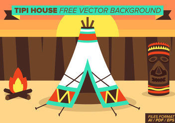 Tipi House Free Vector Background - vector gratuit #364941