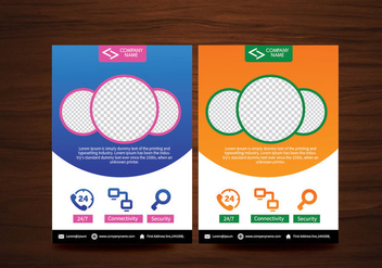 Vector Brochure Flyer design Layout template in A4 size - Free vector #365021