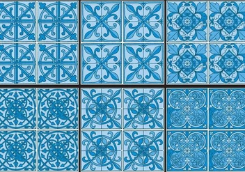 Azulejo Patterns - бесплатный vector #365161