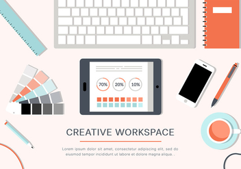 Free Creative Vector Workspace - vector gratuit #365261