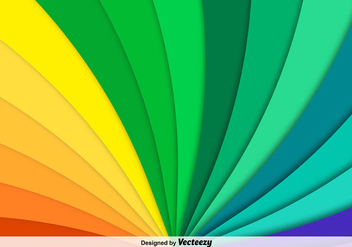 Vector Abstract Rainbow Background - vector gratuit #365291