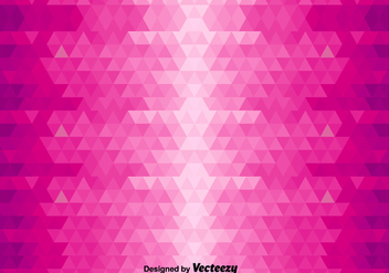 Abstract Vector Background With Pink Triangles - vector gratuit #365351