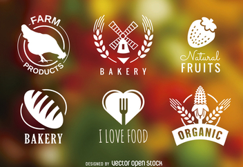 Bakery and organic badges set - Free vector #365431