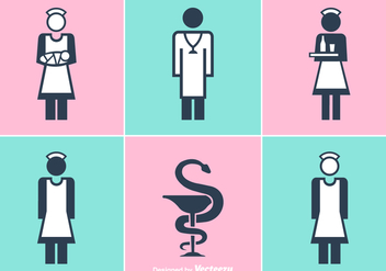 Free Nurse And Doctor Vector Icons - vector gratuit #365561
