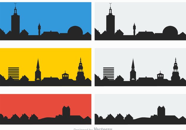 Free Rooftops Silhouette Vector - Free vector #365611