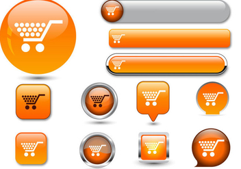Free Web Buttons Set 06 Vector - Free vector #365641