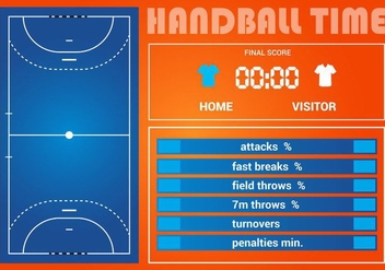 Free Handball Game Statistic Vector - бесплатный vector #365701