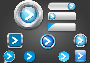 Free Web Buttons Set 07 Vector - Kostenloses vector #365721