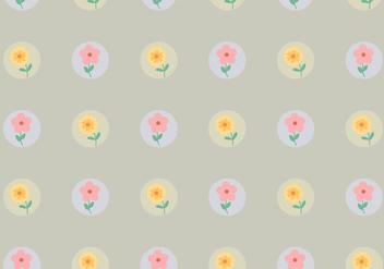 Vintage Dotted Flower Pattern - vector gratuit #365741