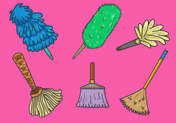 Various Feather Duster Vector - бесплатный vector #365871