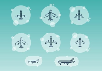 Free Airplane Line Vectors - бесплатный vector #365901