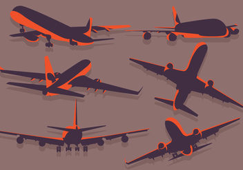 Avion Silhouette vector - бесплатный vector #365921