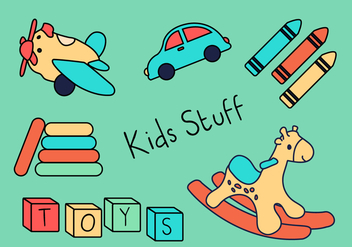 Toys for Kids - vector gratuit #366031