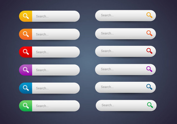 Free Web Buttons Set 10 Vector - Kostenloses vector #366041