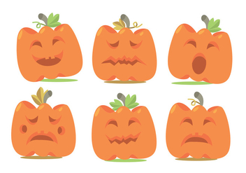 Pumpkin Patch Vector Set - vector gratuit #366061