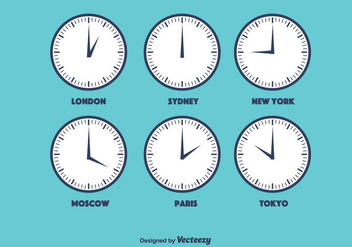 Time Zone Vector - бесплатный vector #366091