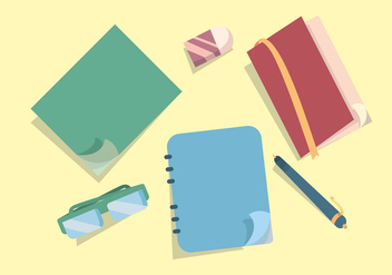 Notebook Page Flip Vector Set - vector gratuit #366101