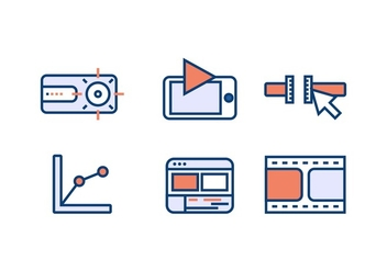 VIDEO EDITING VECTOR ICONS - vector gratuit #366111